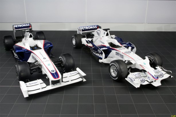 BMW Sauber F109 and F108 Side By Side